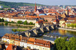 Picturesque landscape with Wurzburg, old town. Germany