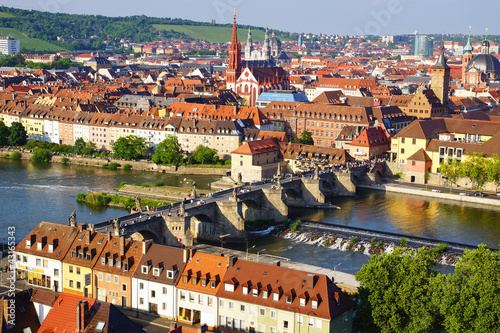 Picturesque landscape with Wurzburg, old town. Germany - 43165343