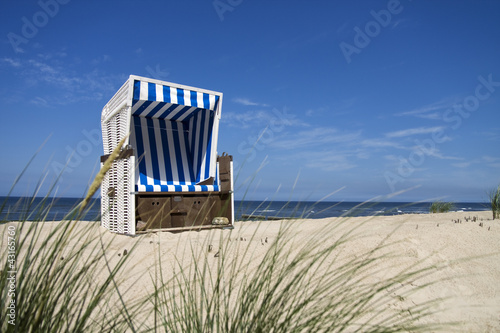 canvas print picture Nordsee Strandkorb
