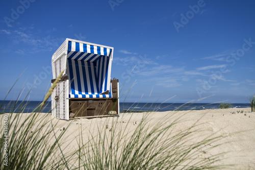 canvas print picture Nordsee Strandkorb