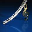 Violinschlüssel Tastatur BL