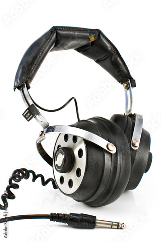 Pair of old sound headphones