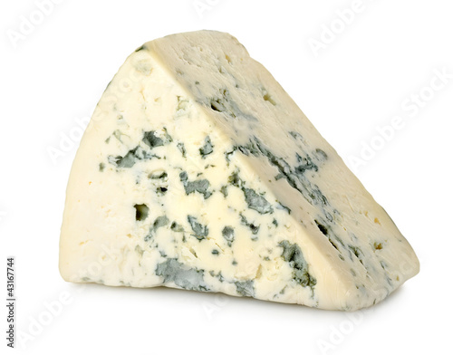 Blue cheese isolated