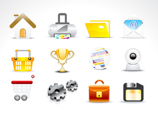 abstract web icon set