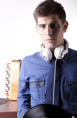 Young man with a headphones
