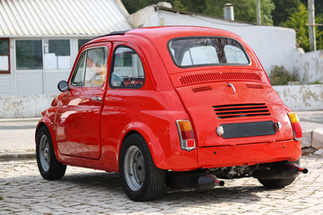 Small Classic Red Car