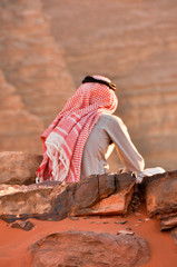 Young bedouin man at Wadi Rum desert, Jordan