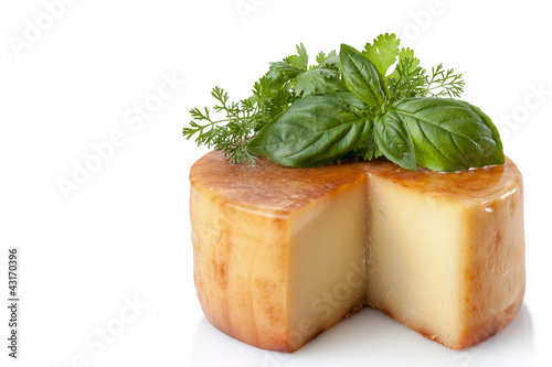 Traditional Smoked Cheese and Fresh Herbs