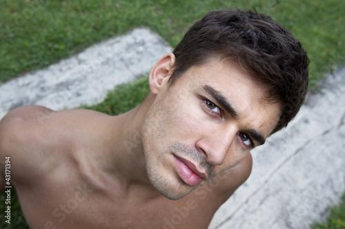 Homme, jeune, beau, séduisant, mâle, garçon, masculin