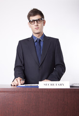 Young male secretary