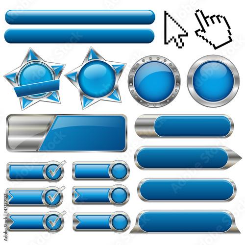 blue button-set