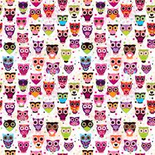 Sowa wzór powtarzalne colourfull dla dzieci w wektorze