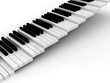 Leinwanddruck Bild - piano black and white stairs grow up background