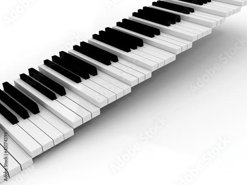 Leinwanddruck Bild piano black and white stairs grow up background
