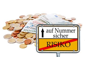 Geld und Schild - Risiko