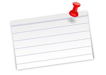 Weißer Notizzettel mit Linien