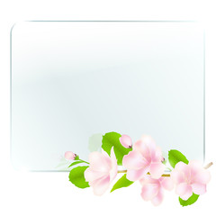 Glass Frame With Apple Flowers