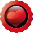 Button rot Herz