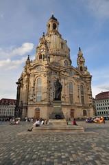 Frauenkirche Dresden in Abendlicht