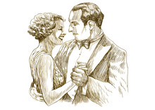 Tanz (dies ist original brown Skizze mit scharfen Konturen!)