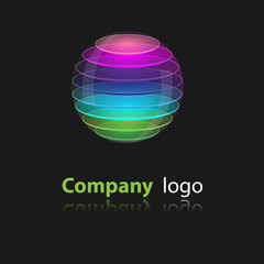 Company logo sphere