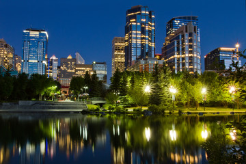 Calgary Downtown at night, Alberta, Canada