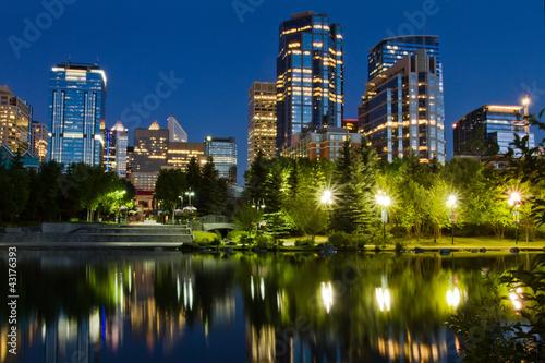 Calgary Downtown at night, Alberta, Canada