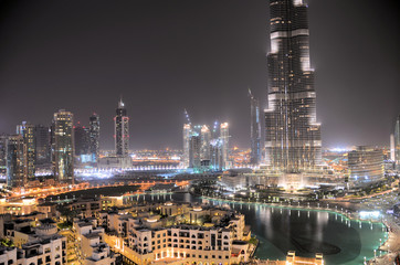 Downtown Dubai at Night