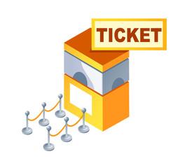 vector icon ticket box