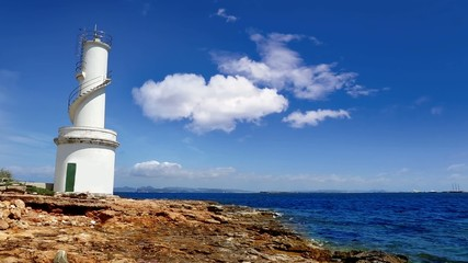La Savina lighthouse in Formentera Sabina near Ibiza