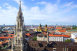 The panorama view of Munchen city centre. Munich, Germany