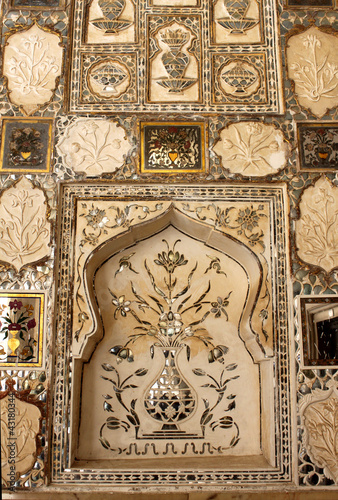 Sheesh Mahal wall (mirrored wall), Jaipur