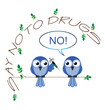 No to drugs twig text message