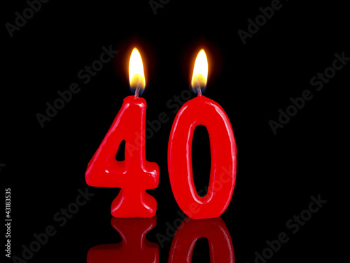 Birthday-anniversary candles showing Nr. 40