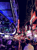 nightlife in a street of Bangkok in Thailand
