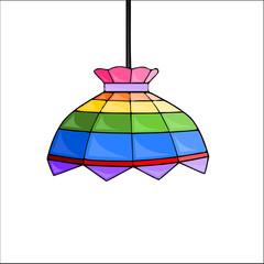 lampadario colorato