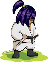 silent ninja on the grass