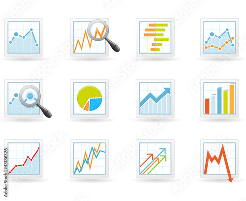 Statistics and analytics icons