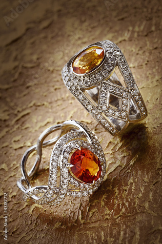 Diamond rings with gems