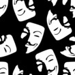 Guy Fawkes - seamless Pattern