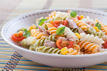 plate of pasta salad