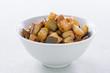 chopped sauteed zucchini bowl