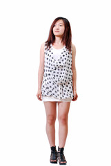 Asian girl with polka dot dress_2