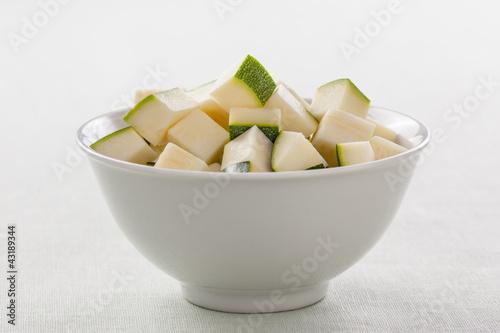 chopped zucchini bowl
