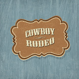 Retro western classic label. Vector illustration, EPS10