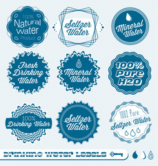 Vector Label Set for Drinking Water