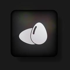 Vector eggs icon on black. Eps 10