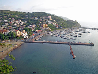 scenic view of the port of agropoli in  Italy