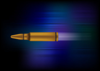 Speed Bullet Vector Illustration