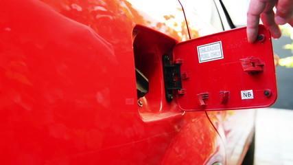 opening of petrol tank